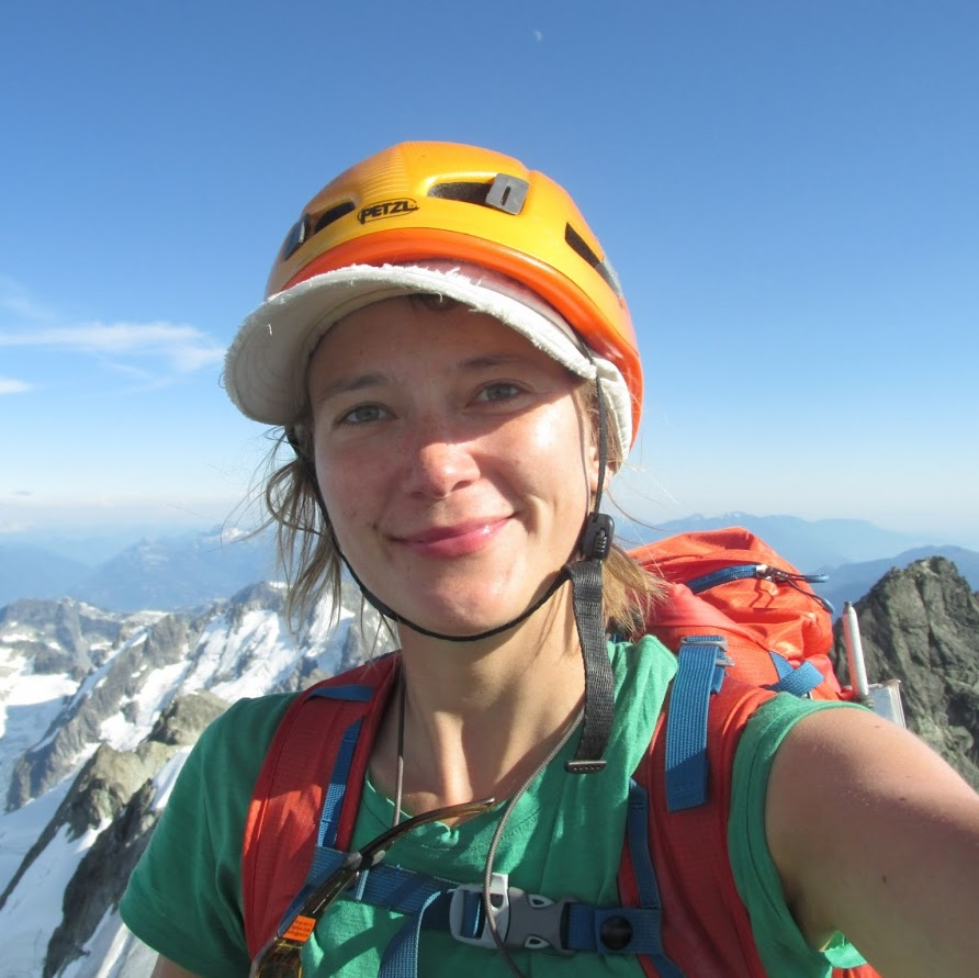 Stephanie Grothe, on top of Mount Tantalus