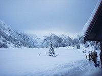 Skis In Front of B.Waddington Hut