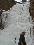Dustin at the base of Cherry Ice