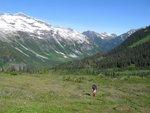 Looking back towards Hammer Lake pass
