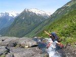 Crossing Polar bear creek 10ft from cliffs