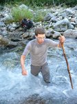 Fording a creek