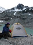 Campsite at the foot of the Place Glacier