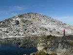 Unnamed lake north of the peak