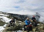 We had good views until we got to the summit