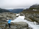 Throwing rocks at frozen lakes, a favorite pastime
