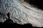 Hiker view of the Madhorse Glacier