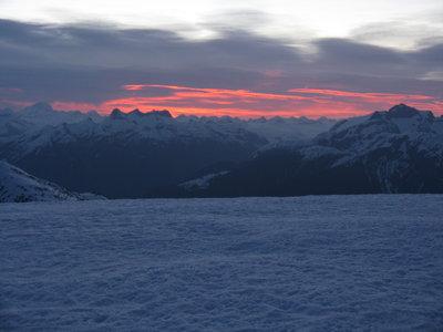 Sunrise Over Homathko