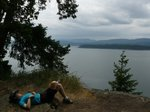 Taking a nap at Lover's Leap