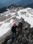 Nick, Nick and Greta on the summit ridge