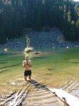 Swimming in Radium Lake