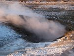 That's something you don't usually see at home - steam coming out of the ground.