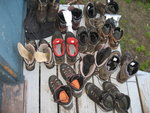 Drying Boots on Porch