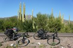 The bikes need a rest too... :) on the way to Loreto, a 122 km day