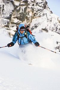 Lisa Pittl skiing at Marriot Basin