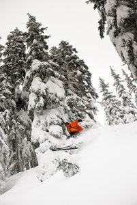Steve drops snow pillow near Rainbow Lake