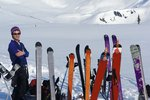 A forest of skis
