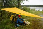 We knew when to stop for lunch. It started pouring as we were sitting down. The tarp saved the day again.