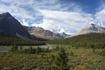 Second day, hiking along the Brazeau River
