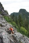 Some easy scrambling on the way up