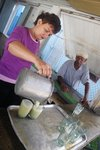 "A ""guarapo"" stand - where they sell sugar cane juice is the most popular spot in every village (costs 4 cents a glass)"