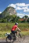 """Starting to see """"mogotes"""" (limestone bumps) on the way to Vinales"""