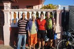 With our hosts in Puerto Esperanza, a lovely eldery couple