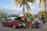 Selling produce out of a car, you've got to love Cuba