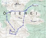 The approximate route of our loop from the hut to Tolkien