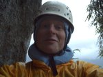 Self Portrait of a wet climber.