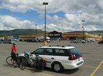 Parking at the Walmart in Merrit