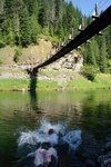 Taking a swim in the St. Joe River