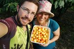 We stayed with our friends the Steenkamps, where we picked some delicious Rainier Cherries