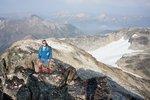 Gili on the summit of Goat Mtn.