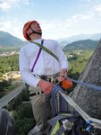 Nick Matwyuk really enjoying climbing