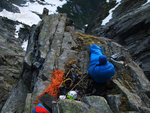 On Belay - Bivouac at pitch 18 on Mt Slesse. Photo: Skyler Des Roches