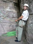 Double ropes on a sport route, yum!