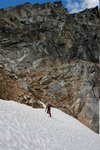 Snow climbing in the gully
