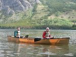 Trying out the Kevlar canoe