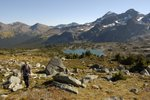 We hiked north from the lake towards a 2625m peak