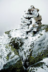 Hoar-Frosted Cairn in the High Peaks