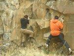 Jade and Eric bouldering
