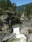 Waterfalls and a rainbow