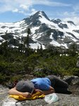 Some of us took a nap at the top of the hill (peak 6010)