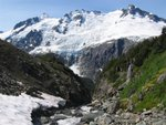 Watching the seracs fall of the Purgatory glacier