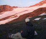 Red glacier