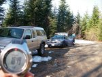 The Veenstramobile made it up the Brohm Ridge road to the snow line!  We were pretty stoaked... except it was the wrong branch,
