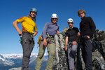 obligatory summit portrait. from left: Phillip, Piotr, Eric, Jordan