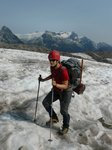 Easy hiking on the glacier