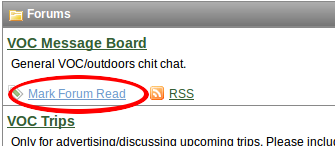 The 'Mark Forum Read' button